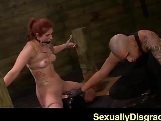 Fetishnetwork Rose Red Tyrell Bound At Sybian