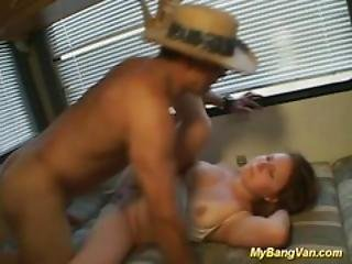 Sexy Busty Bitch Gets Van Screwed