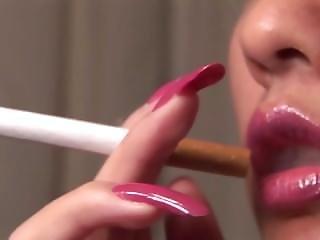 Closeup, Smoking