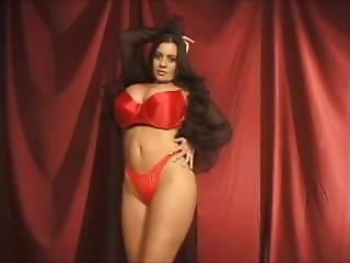 Linsey Dawn Red Satin Bra