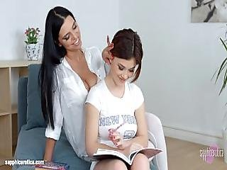 Passionate Lesbian Sex With Kyra Queen And Veronica Moore On Sapphic Erotica
