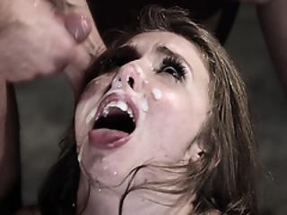 anal, banging, brunette, brutal, crème, éjaculation, dp, dans la tête, gangbang, pénetration, hurlements, grande, Ados, Ados Anal, trio