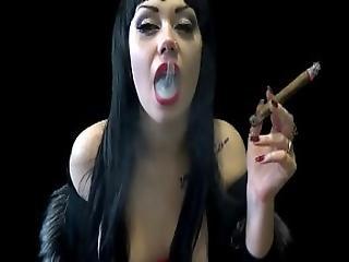 Evil Cigar Smoking Vampire