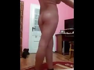 amateur, bonasse, gros téton, brunette, robe, latino, sexy, solo, Ados, se déshabiller