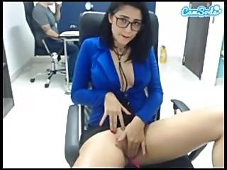 Martina So Hot Fingering And Squirting In The Office Part 2