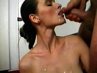 Hot Brunette Loves Giving Extreme Mouth Jobs