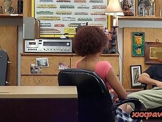 Busty Amateur Ghetto Sucks Off And Gets Her Yummy Coochie Nailed By Nasty Pawn Dude At The Pawnshop