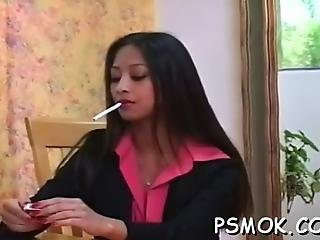 Provocative Slut Enjoys Smoking A Nice Cigarette