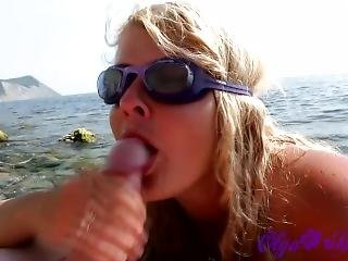 Amatoriale, Bambola, Spiaggia, Bionda, Pompini, Coppia, Nudisti, In Pubblico, Russa