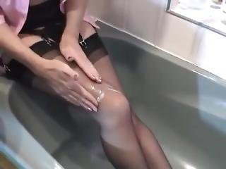 Sticky Wet Stockings