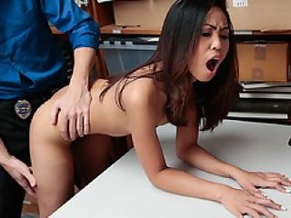 Aurora Spread Her Legs Wide Open And Let Him Bang Her Tight Pussy
