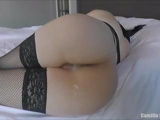 Big Ass Young Mom In Lingerie Is Fucked In Bed Until Huge Dripping Creampie