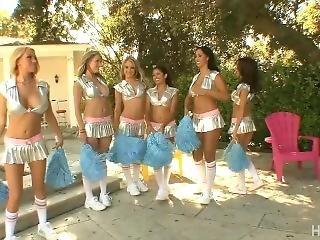Interracial Cheerleader Orgy 2