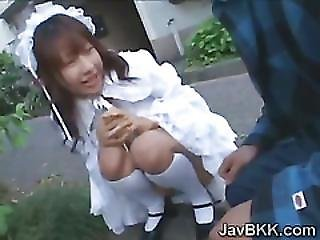 Asian, Bukkake, Cum, Dress, Fetish, Innocent, Japanese, Maid, Older Man, Swallow, Teen