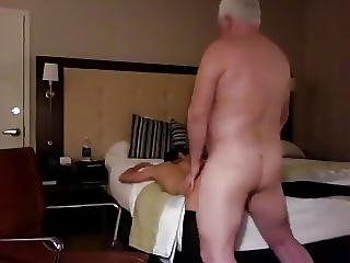 Horny Old Rich Man Fucks His Sexy Slim Teen Hooker