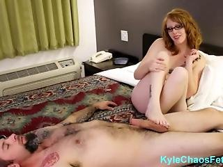 Redheaded Teen Step Sister Gives Brother A Footjob - Athame Le Fey And Kyle Chaos