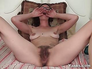 Tattooed Sylvie Masturbating Her Hairy Pussy