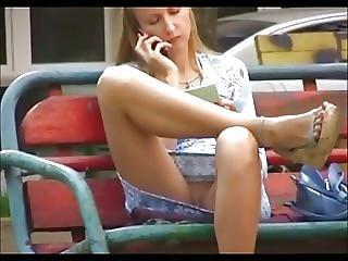 Exhibitionist Girl Without Underwear