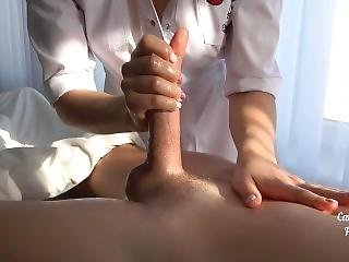 Young Masseuse Getting Creampied After Handjob