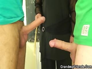 Granny Teacher And Boys Teen