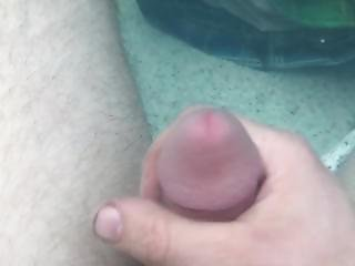 Masterbating In The Hot Tub Underwater Cum Shot