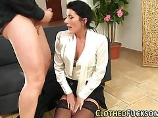 Glamour Slut Gets Cumshot