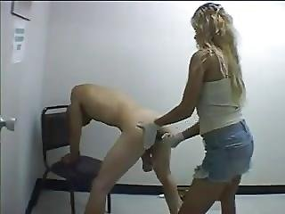 Guy Gets Pegged By Girl Does Anyone Know Her Name