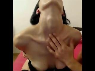Cam Girl Has Her Neck Played With