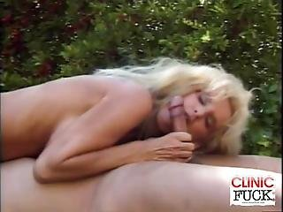 We Have These Naughty Busty Nurse Attending To Her Patient On This Clip By The Pool Watch As This Big Tit Honey Give Her Patient A Nasty Blowjob On This Raunchy Cock Sucking Scene