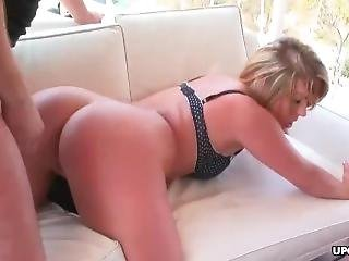 Thick Ass Blonde Babe Getting Plowed On A Balcony