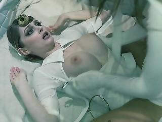 Mental Case Riley Reid Shoves Doll In Sexy Nurse Ass
