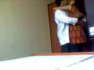 Indian Hot College Girl With Her Boy Friend In His Room
