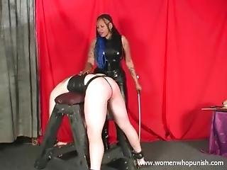 Black, Bondage, Caning, Ebony, Femdom, Latex, Mistress, Punish, Slave, Spanking, White