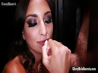 Gloryhole Secrets Sexy Spinner Cum Mouthfuls