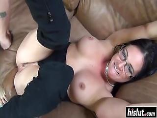 Tattooed Babe Gets Fucked And Snorts Cum