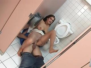 Pantyhose Feet Worship In Toilet