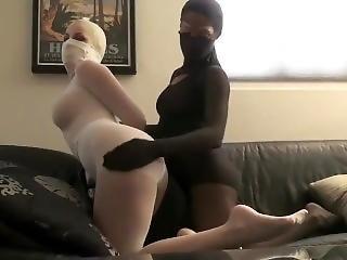 Whore pantyhose bondage