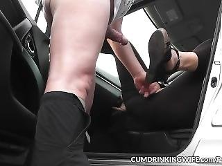 Wife Banged By Plenty Of Strangers In The Car