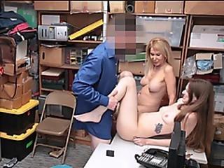 Officer Tastes Both Granddawter And Grandma Pussy