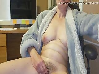 Hairy Pussy Orgasms With Full Body Contractions
