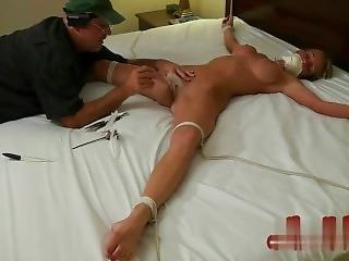 Gagged Eagle Spread Tickle Tease & Torture