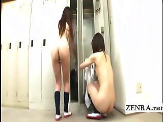 Nudist Teacher Sees Schoolgirls Changing Into Uniforms