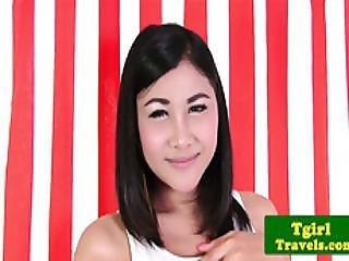 Young Asian Ts Tgirl Tongta Stimulates Her Ass