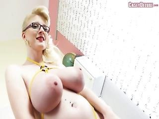 Casey Deluxe - Pregnant German Cunt Strip Dance