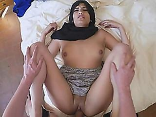 21yo Arab Refugee Spreads Legs And Gets Tight Creamy Pussy Penetrated