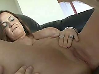 Busty Teen And Hot Granny In A Lesbian Action