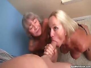 Mature Ladies Tag Team A Dick