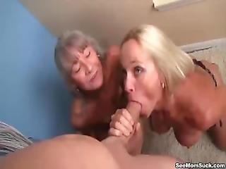Mature Ladies Tag Team A Dick