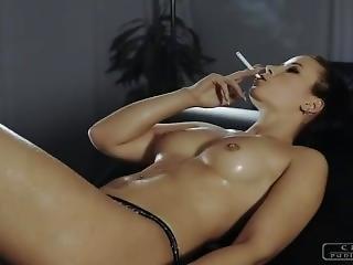 Cruel Anette Smokes A Cigarette (2)