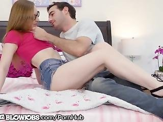 Onlyteenblowjobs Nerdy Teen Step Sister Sucking Her Brother's Cock